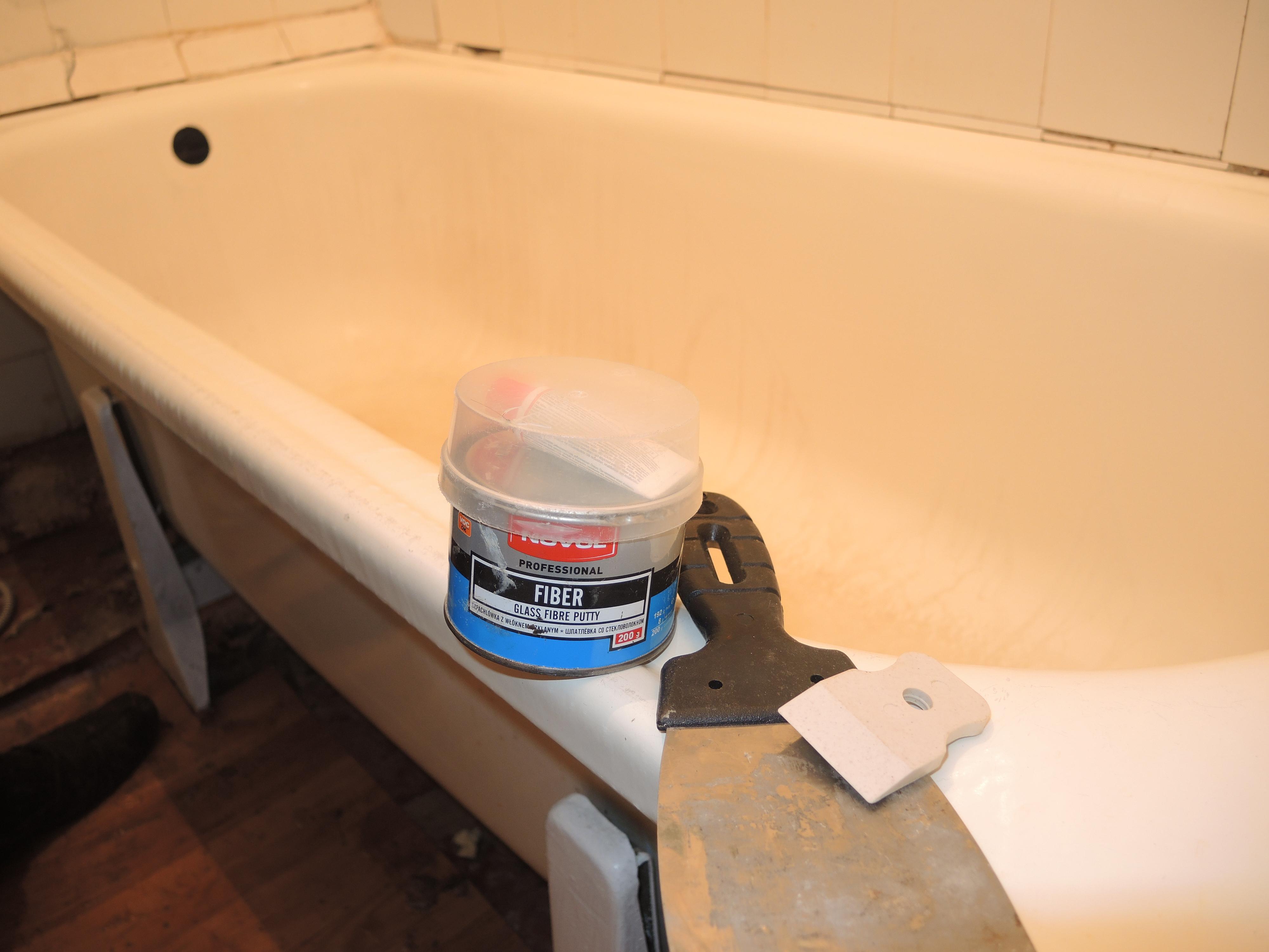 Чем заделать трещину на акриловой ванне своими руками.