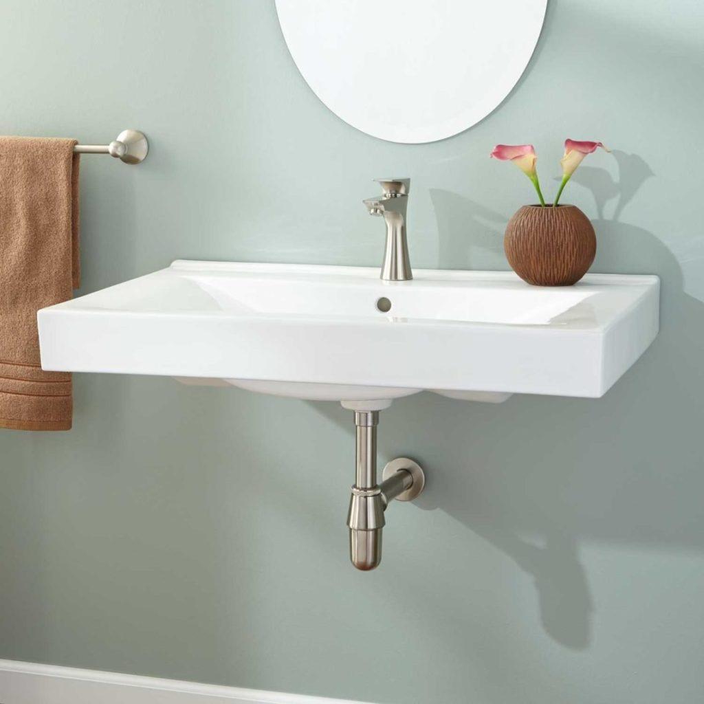 Раковина подвесная в ванную.