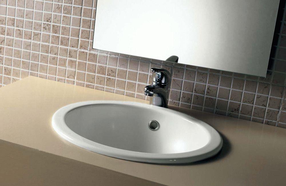 раковина встраиваемая в ванную.