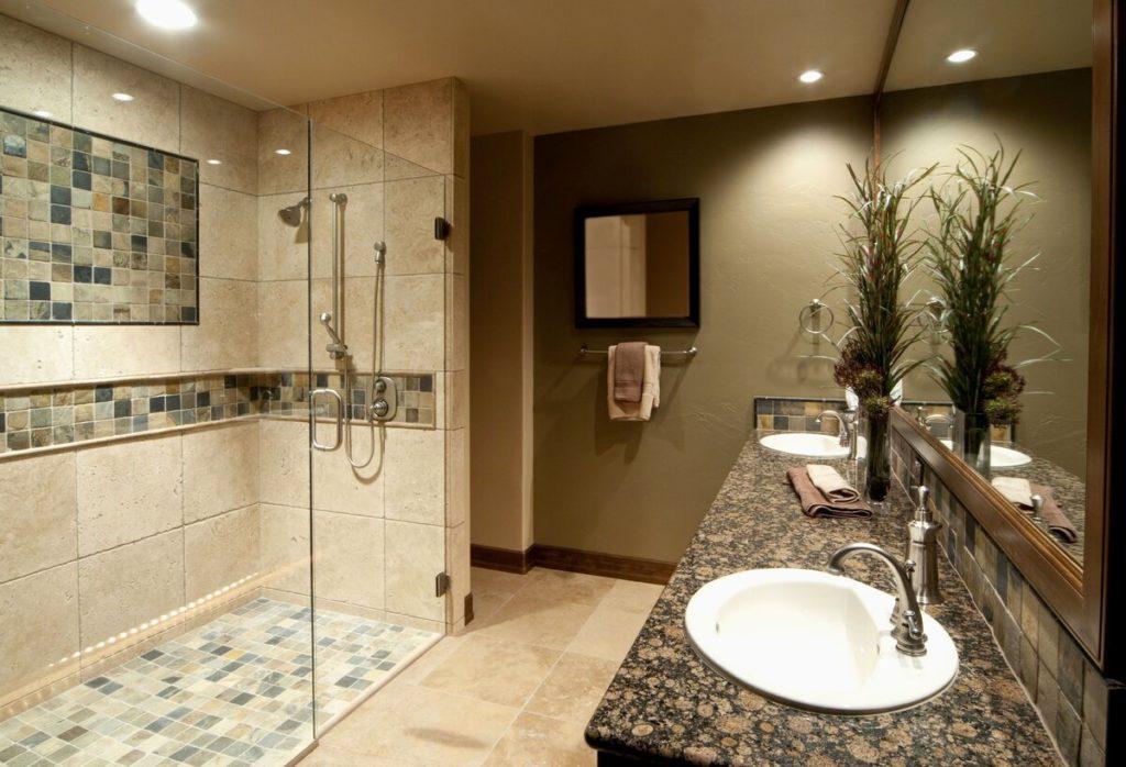 Вариант дизайна ванной комнаты.