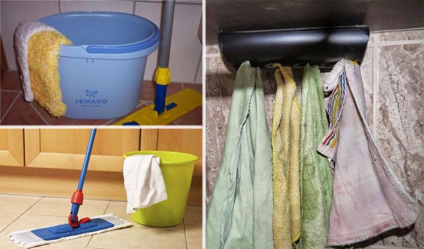 Где хранить тряпки для уборки