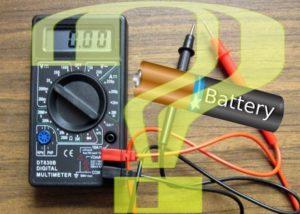 Проверка батарейки.