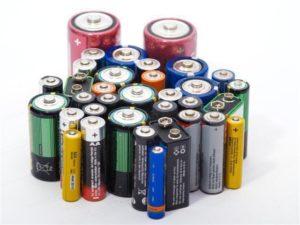 Корпус батареек из разных металлов.