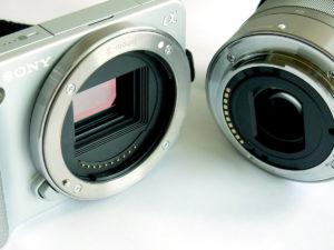 Байонет на камере и объективе