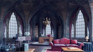 Интерьер в готическом стиле - заглавная