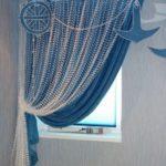 шторы в морской тематике в кухню и столовую