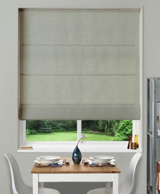 римские шторы в кухню в стиле минимализм