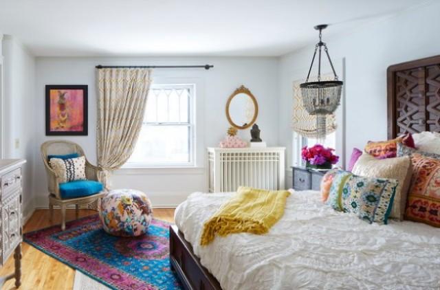 спальня в стиле эклектика