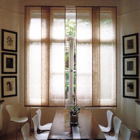 японские панели в кухню в стиле минимализм