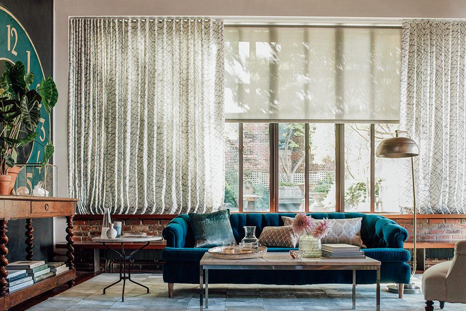 шторы для комнаты в стиле эклектика