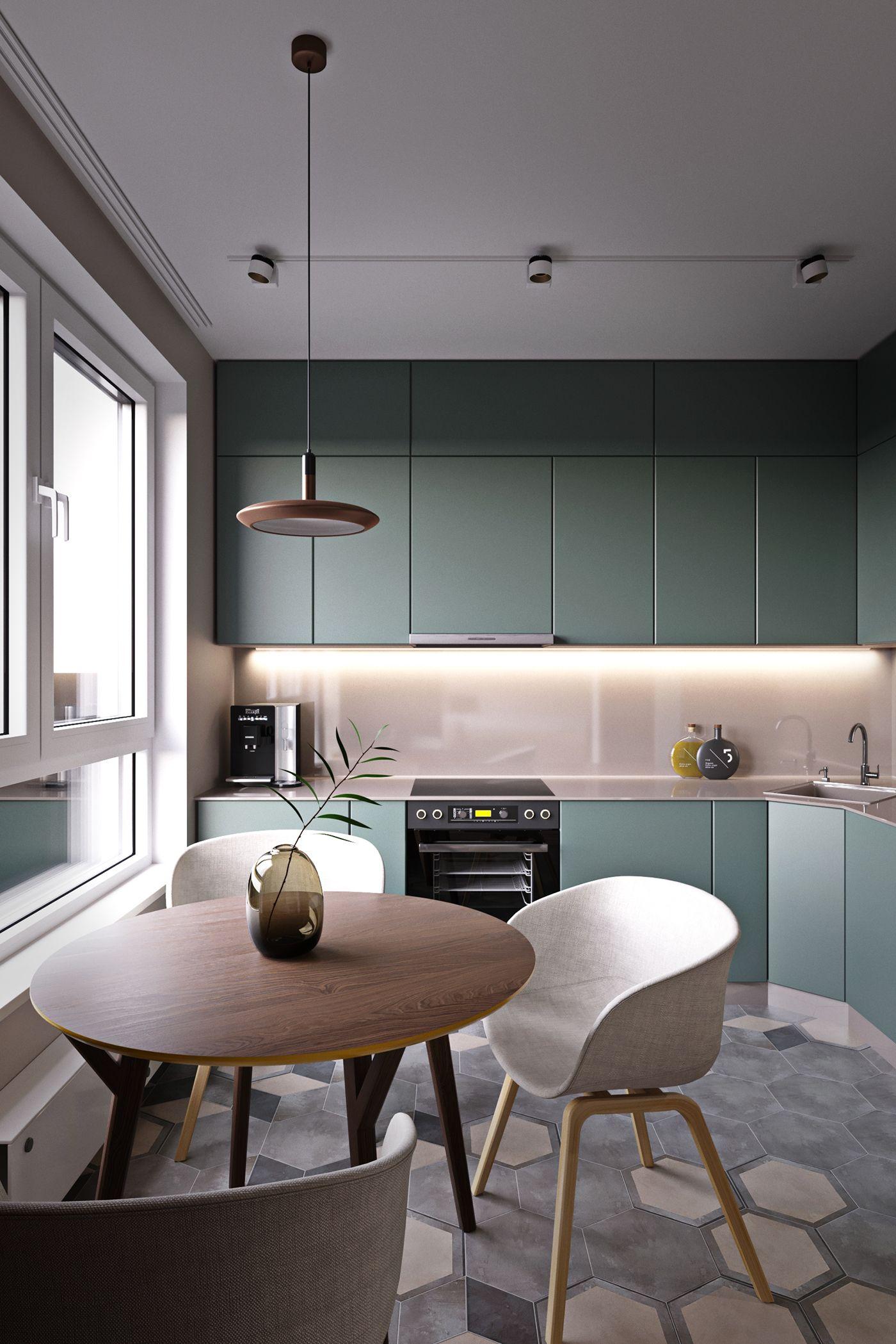 меблировка в кухне в стиле минимализм