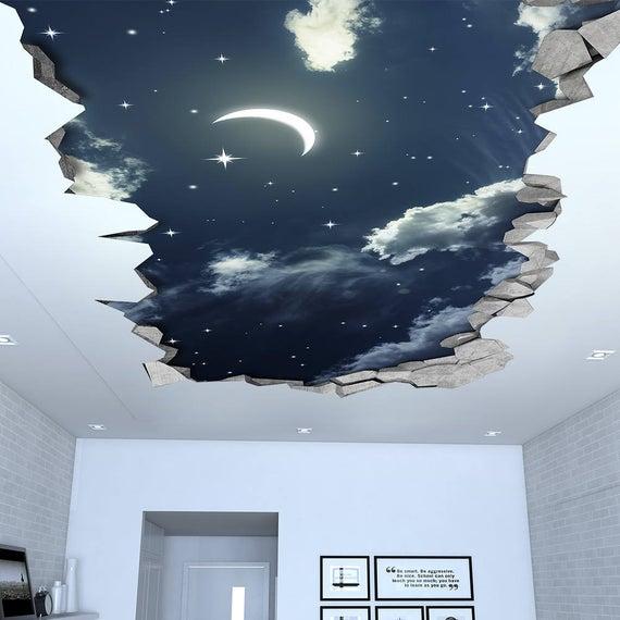 натяжной потолок с эффектом 3D
