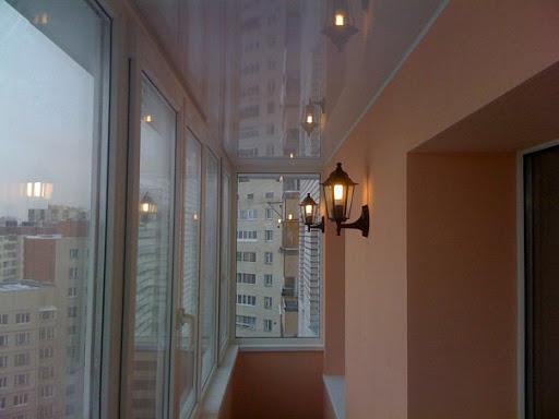 натяжной потолок на балконе или лоджии