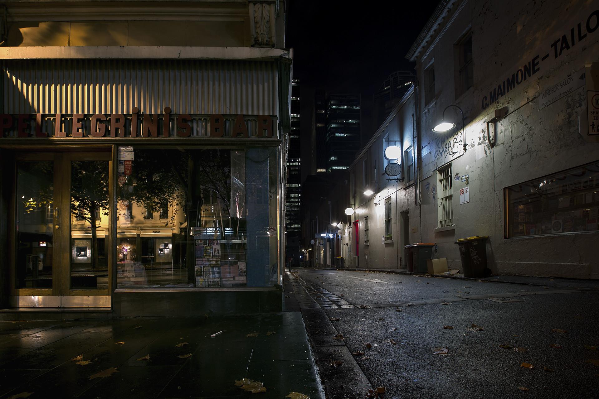 Закрытые заведения ночью