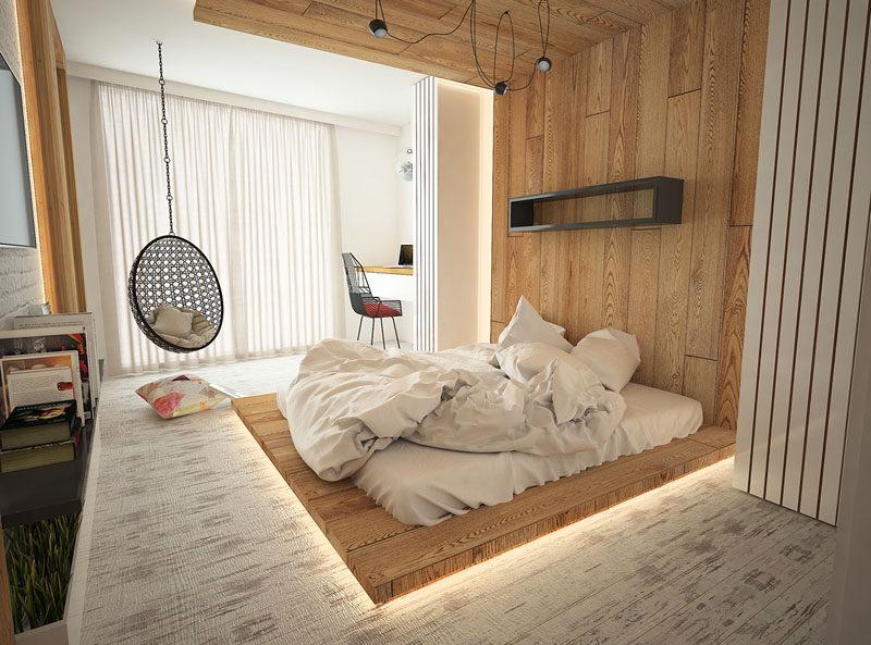 оригинальный потолок в спальне