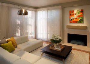 шторы в стиле минимализм для гостиной