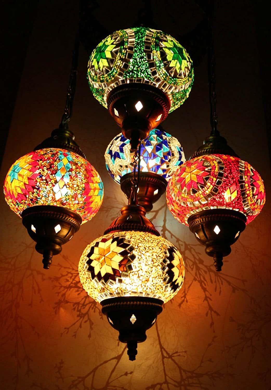 Светильники в марокканском стиле.