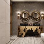 Дизайн ванной комнаты в стиле арт-деко с фото