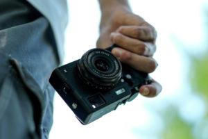 Компактный фотоаппарат.