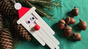 Дед Мороз из палочек