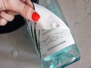 как удалить этикетку с бутылки