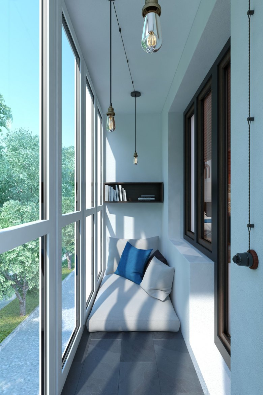 Балкон с панорамными окнами