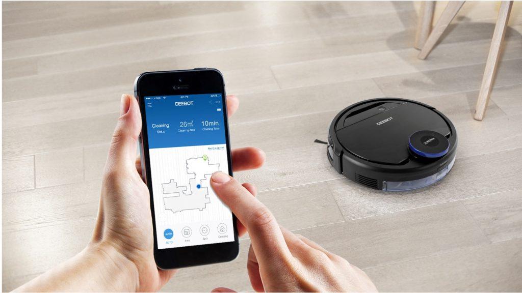 управление роботом пылесосом со смартфона