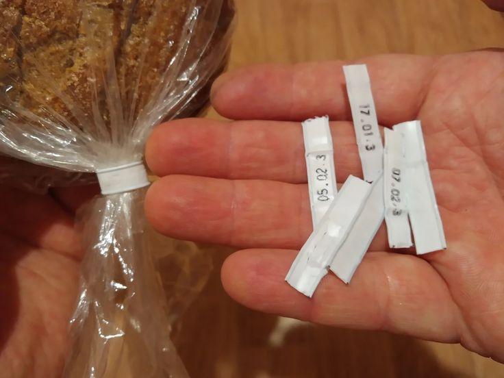 Хомуты от упаковок с хлебом