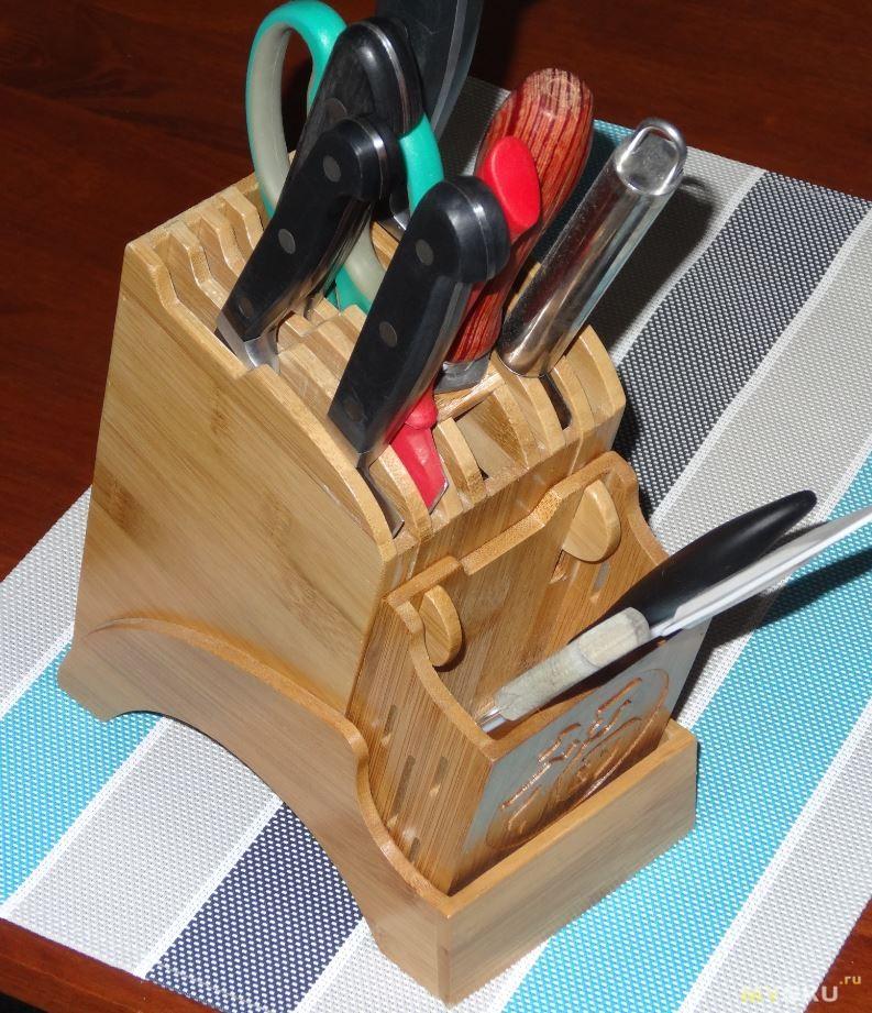 Деревянный держатель для ножей