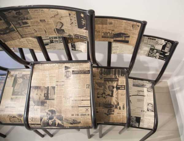 Декупаж старыми газетами