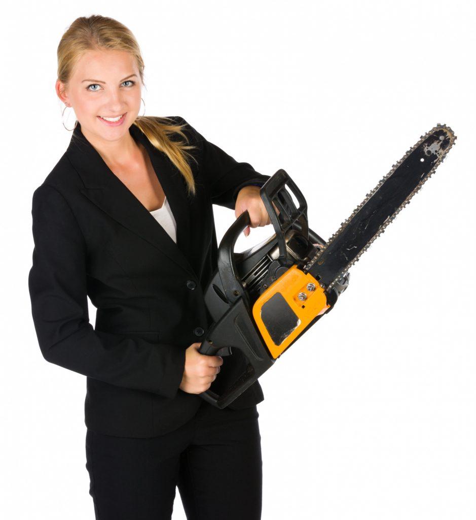 Как пользоваться бензопилой женщине
