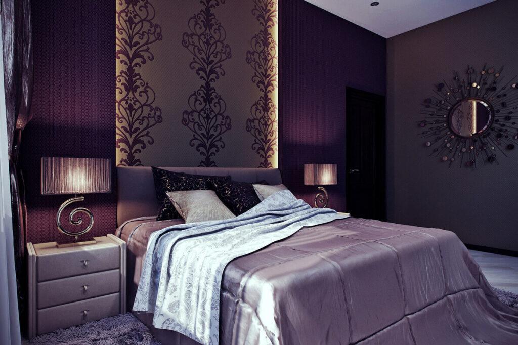 Фиолетовая спальня.