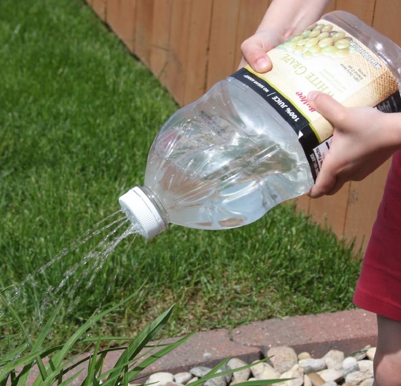лейка из пластиковой бутылки