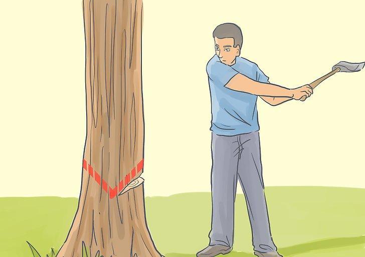 как срубить дерево