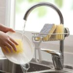 Kitchen-Sink-Faucet-Drain-Rack-Sponge-Soap-Cloth-Storage-Organizer-Holder-Shelf-LKS99
