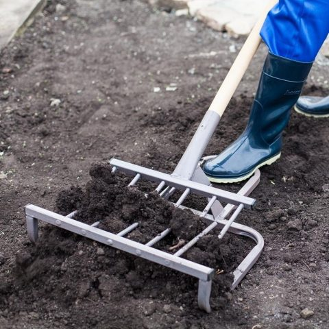 Работа чудо-лопатой.