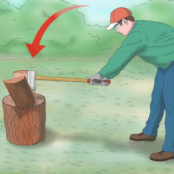 как колоть топором