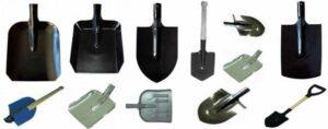 виды лопат