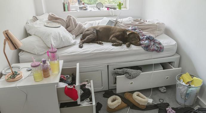 Неубранная кровать