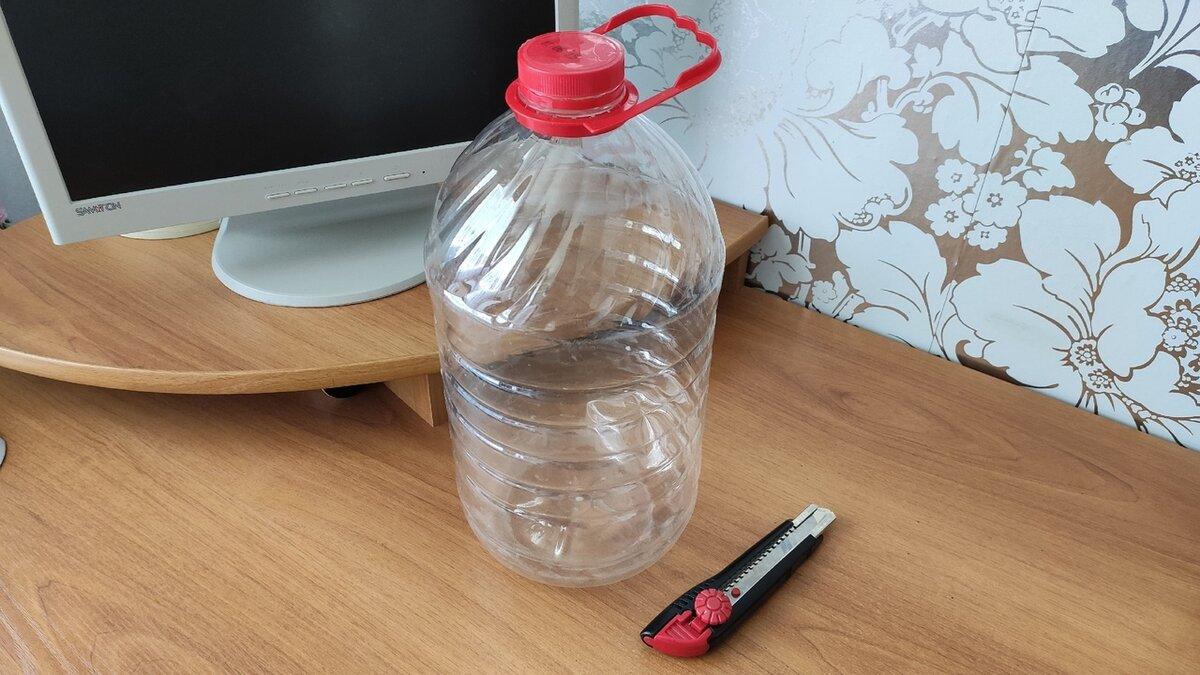 Хранение в холодильнике с пятилитровой бутылкой